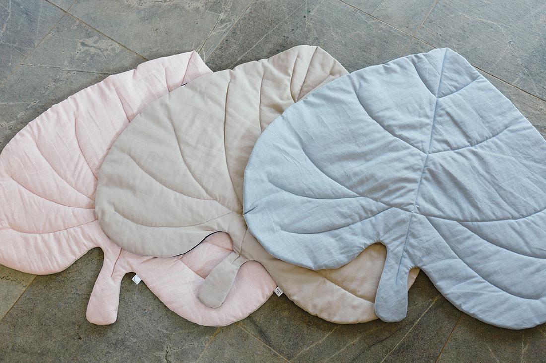 Cotton Leaf Play Mat Colour Options