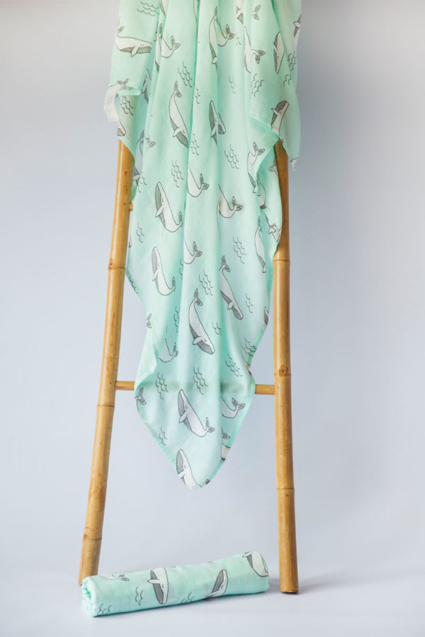 Turquoise Whale Draped