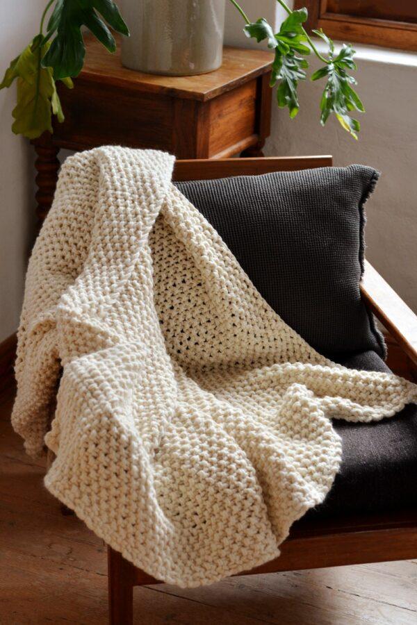Irish Moss Stitch Pure Wool 1