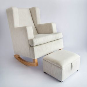Savoy Rocker diagonal left front with closed foot stool main