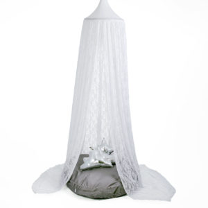 Hanging Tent Canopy – Lace White